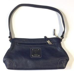 Tignanello Bags - Tignanello Leather Baguette Purse Navy Blue